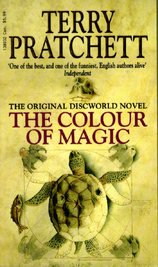 Book Cover Graphism Quotes ~ The annotated pratchett file v colour of magic